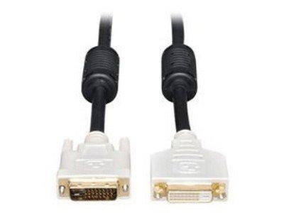 Tripp Lite P562-010 - DVI extension cable - dual link - DVI-D (M) - DVI-D (F) - 10 ft - molded, thumbscrews - black