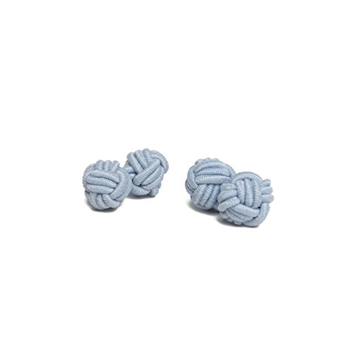Jacob Alexander Pair of Solid Color Silk Knot Cufflinks - Baby - Buttons Cuff French