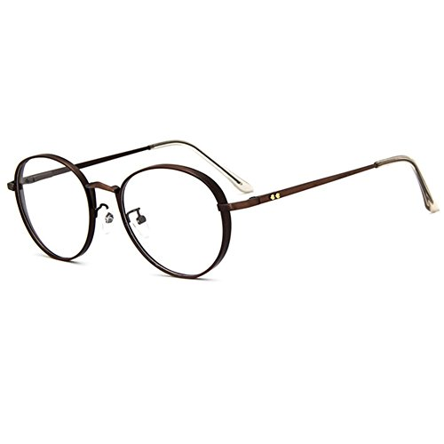 Z-P Vintage Unisex Round Metal Frame UV400 Clear Lens - Mail Prescription Glasses Order