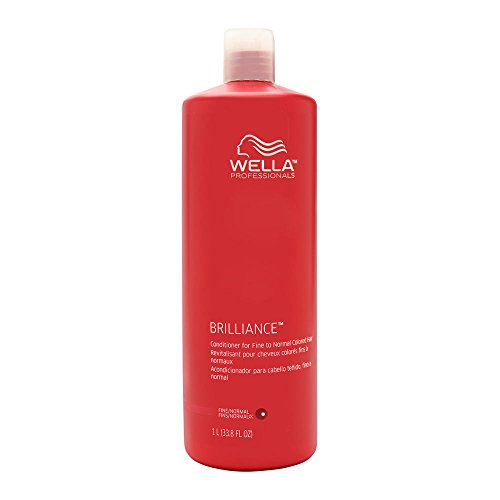 Wella Brilliance Conditioner for Fine to Normal Colored Hair 33.8 oz (1 Liter) (Best Conditioner For Normal Hair)