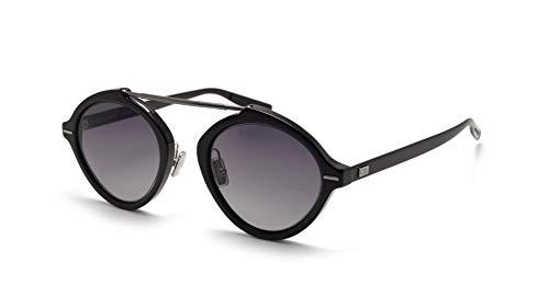 Christian Dior Homme DiorSystem Sunglasses Black w/Dark Grey Gradient Lens 49mm SUB9O Dior System Dior System/S DiorSystem/S