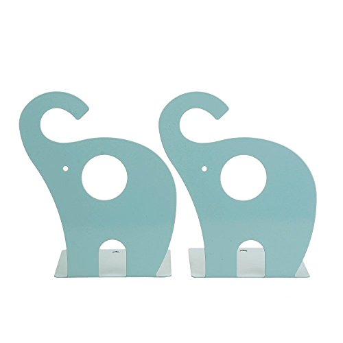 1pair Cute Elephant Nonskid Bookends (Blue) by YOURNELO