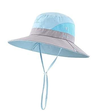 BonjourMrsMr Kids Wide Brim Sun Hat Bucket Quick-Drying Hat Toddler UPF 50+(3T-7T)
