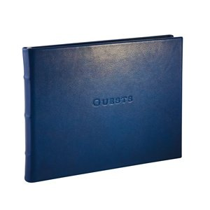 Amazon.com: Leather Library Bound Guest Book - Lined, Gilt