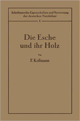 Die Esche Und Ihr Holz 1 Band Schriftenreihe Eigenschaften Und