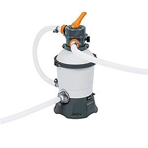 Bestway Flowclear Pool – Filtro de arena con dosificador ChemConnect integrado