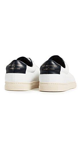 Zespa Heren Zsp4 Lederen Sneakers Wit / Marine