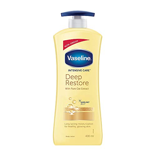 Vaseline Intensive Care Deep Restore with pure Oat extract Body Lotion, 400 ml