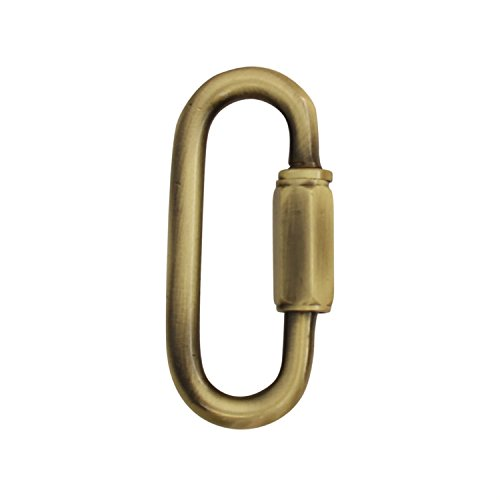 RCH Hardware QL-B60-AB-2 | 2 Pack Solid Brass 5 Gauge Quick Link for Connecting Chains to Fixtures (Antique Brass)