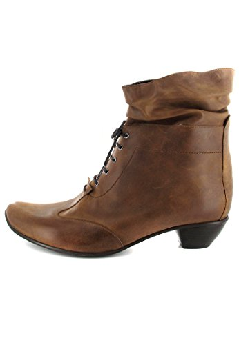 SALE - FIDJI - Damen Stiefeletten - Braun Schuhe in Übergrößen