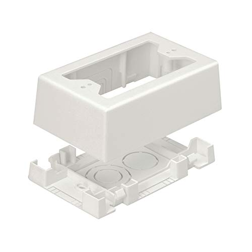 Panduit JBX3510IW-A 1-Gang Outlet Box, Off White, 2-Piece