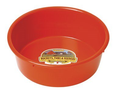 Miller Manufacturing P-5-RED 5-Quart Plastic Utility Pans, Red