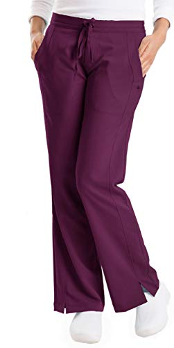 healing hands Purple Label Women's Taylor 9095 2 Pocket Drawstring Scrub Pant Wine-XX-Small Petite
