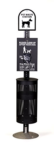(ZW USA Inc Dog Waste Station - Everything Included - Free 400 Waste Bags and 50 can Liners)