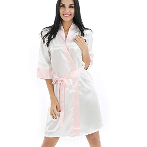 Women Sexy Pajamas Sleepwear Shawl Bathrobe Robe Coat