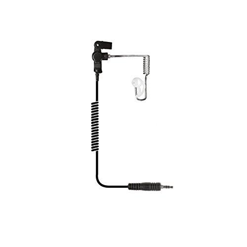 Tactical Earphone - The Ear Phone Connection Ear Phone Connection Fox Listen Only Earpiece w/Long Tube, fits Motorola Radios, black,