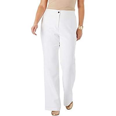Jessica London Women's Plus Size Tummy Control Bi-Stretch Midi Skirt