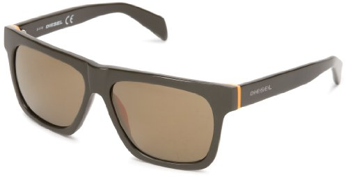 Diesel DL00725896G Wayfarer Sunglasses,Green,58 - Diesel Sunglasses Womens