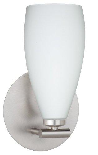 Besa Lighting 1SX-719807-SN 1X40W G9 Karli Wall Sconce with Opal Matte Glass, Satin Nickel - Flat Lamp Satin Nickel Wall