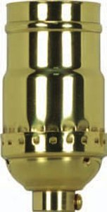 Satco 3 Piece Stamped Solid Brass 3 Way (2 Circuit) - 801176 (Stamped Brass Solid)