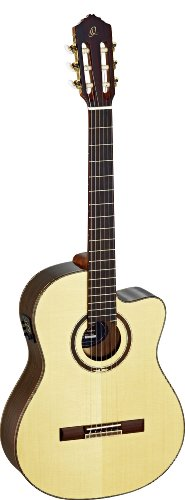 - Ortega Guitars RCE158SN Feel Series Slim Neck Nylon 6-String Guitar with Solid Spruce Top, Rosewood Body and Pickup