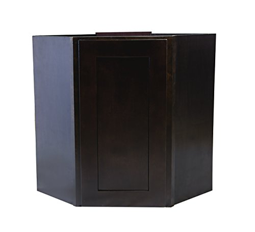 Design House 562363 Brookings 24-Inch Corner Wall Cabinet, Espresso Shaker
