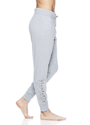 Gaiam Women's Calla Jogger Pant Mid Rise Waist Flow Fleece Performance Yoga Pants - Namaste Grey Heather, X-Large