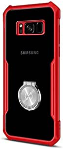 Samsung S8 Xundd Magic Beatle Ring Series Case Cover - Red