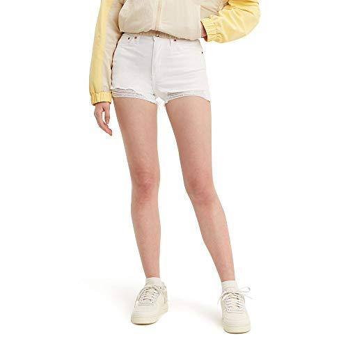 Levi's Women's High Rise Shorts, salt white, 27 (US 4)