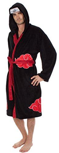 [Naruto Shippuden Akatsuki Costume Hooded Fleece Robe] (Naruto Shippuden Costume)