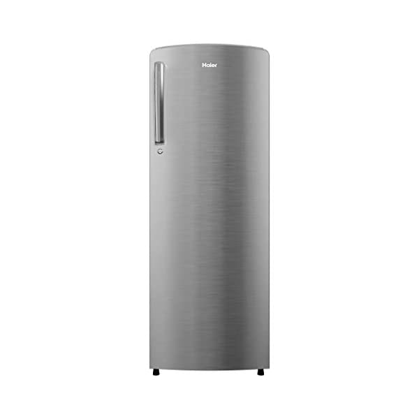 Haier 242 L 3 Star Inverter Direct-Cool Single Door Refrigerator (HRD-2423CIS-E, Inox Steel) 2021 August Direct-cool refrigerator with Diamond edge freezing technology -ensures better ice formation and super-fast cooling. Capacity: 242 litres suitable for a small family. Energy rating: 3 star, Annual energy consumption: 159 per year
