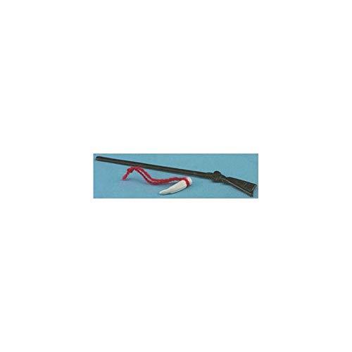 (International Miniatures Dollhouse Miniature Rifle/powder Horn (1155) )