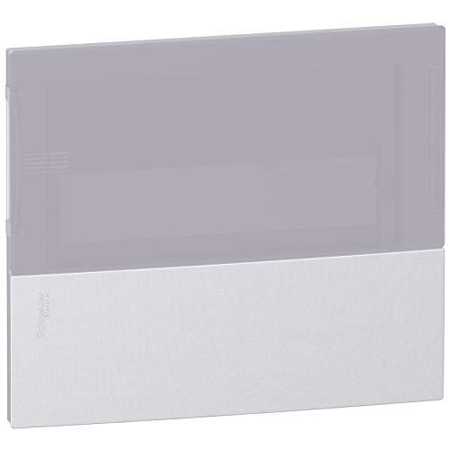 Schneider ELEC PBT–CFO 2900–Frontplatte 1Reihig 8Module Tür Rauchgrau/A chrom/chrom satiniert