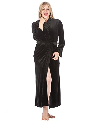 Royal Velvet Robe - Black - X-Large (Black Velvet Robes)
