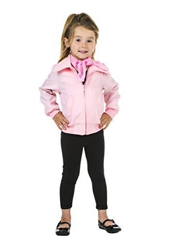[Toddler Deluxe Pink Ladies Jacket - 4t] (Pink Lady Grease Costumes)