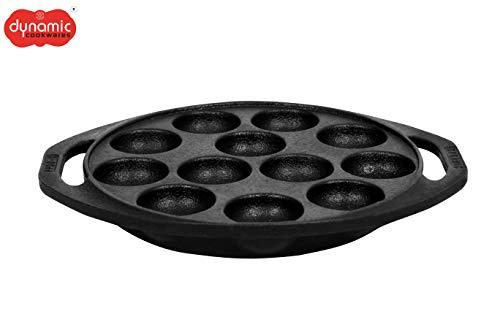Dynamic Cookwares, Premium Cast Iron Paniyaram/Paddu/Ponganalu Pan/Kallu/Chatti (Pre-Seasoned Price & Reviews