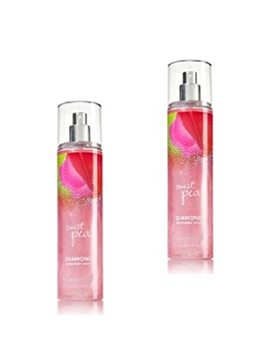 Bath & Body Works Signature Collection - Diamond Shimmer Mist - Sweet Pea - 8 FL oz. Lot of 2