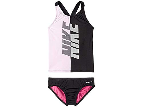 Nike Kids Girls Sets - Nike Kids Girl's Rift Cross-Back Tankini (Little Kids/Big Kids) Black X-Small