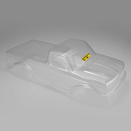 J Concepts Inc. 1/10 1993 Ford F-250 Monster Truck Clear Body with Racerback and Visor, JCO0303