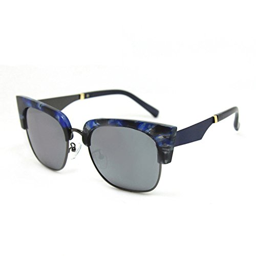 ladies sunglasses half frame cat polarized sunglasses ()