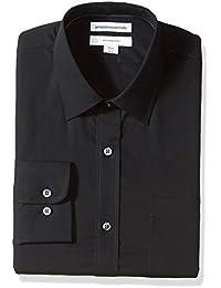 Men's Standard Slim-Fit Wrinkle-Resistant Long-Sleeve Solid Dress Shirt