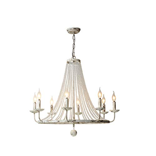(&Chandelier Chandelier Home Crystal Wrought Iron Chandelier E14 Spiral Port 7869 Chandelier%Chandeliers (Color : Warm Light))