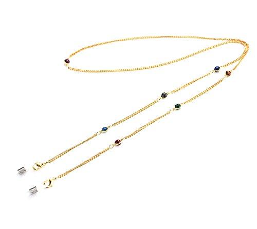 Kalevel Glasses Strap Holder Gold Beaded Eyeglass Chains for Women - Starry - Eye Gasses