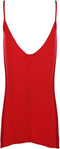 manches Swing Femmes Tailles 40 Haut plaine Grand Vest WearAll Rouge Taille Hauts 58 Femmes bretelles sans UTn8Yx