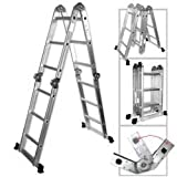 Light Weight Multi-Purpose 12' Aluminum Ladder - 300 LB Capacity by Rrt