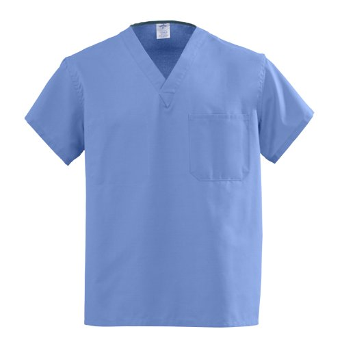 Medline AngelStat Unisex Reversible V-Neck Scrub Top M610ntzs-ca, 1 Pound