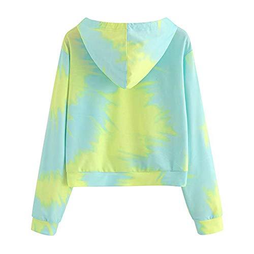 Tops à Pullover Vert Chemisier Imprimé Pull Capuche Sweat Longues Patchwork Manches Beikoard Blouse Femme Sweatshirt pour pBwZf