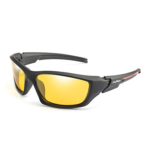 Night Vision Wrap Around Sport Sunglasses Cycling Running Driving Baseball Glasses Long Keeper (Night Vision)