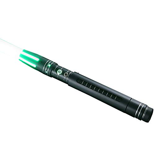 Kybers Metal Hilt RGB Lightsaber Light Saber with Sound Aluminum Hilt Rechargeable Cosplay Jedi Sith Be Your Favorite Star Wars Character with 9 watts LED Ataru-RGB -