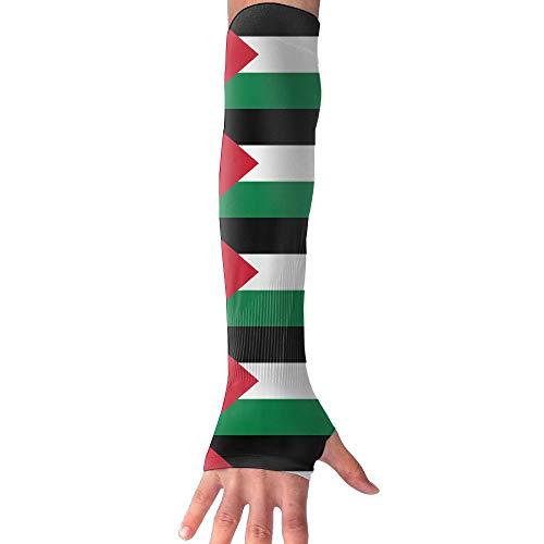 CHAN03 Anti-uv Sun Protection Iraqi Flag Gloves Long Fingerless Arm Cooling Sleeve Men Women by CHAN03 (Image #1)